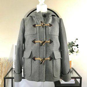 JCrew Melton Wool Gray Toggle Coat 6P